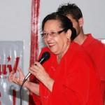 María León candidata voto lista PSUV Aragua, habló sobre heroínas y el mandato del Comandante de demoler a la oposición traidora.