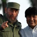 Fidel Castro y Evo Morales
