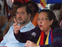 María León y Germán Espinal Embajador de Honduras en Venezuela