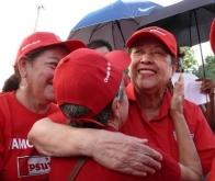 Recorrido de la candidata María León en Campo Alegre. 14-08-2010